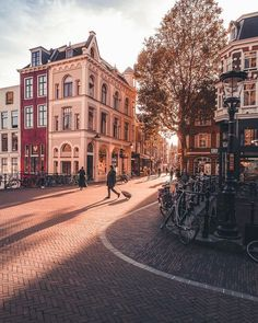 The greatly planned city of Amsterdam is among the couple of cities in the world where individuals, the streets and the atmosphere are a destination in themselves. Oh The Places You'll Go, Places To Travel, Travel Destinations, Places To Visit, Holiday Destinations, City Aesthetic, Travel Aesthetic, Amsterdam City, Amsterdam Travel