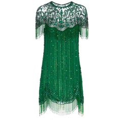Jenny Packham Kleid Charleston ($1,060) ❤ liked on Polyvore featuring dresses, green, short dresses, vestidos, green mini dress, special occasion dresses, cocktail dresses, holiday cocktail dresses and short green dress