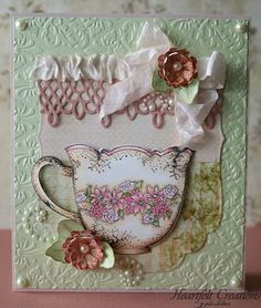 Heartfelt Creations exists to dynamically inspire, uplift, and add value to papercrafters. We do this with a unique line of coordinating Papercrafting & Scrapbooking products. Paper Tea Cups, Heartfelt Creations Cards, Shabby Chic Cards, China Tea Cups, Beautiful Handmade Cards, Tea Art, Mothers Day Crafts, Card Patterns, Scrapbook Cards