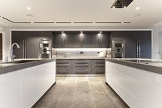 Image result for white and grey contemporary kitchens