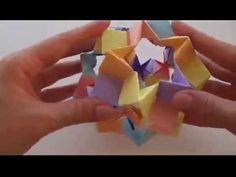 Кусудама оригами   Волшебный шар из бумаги