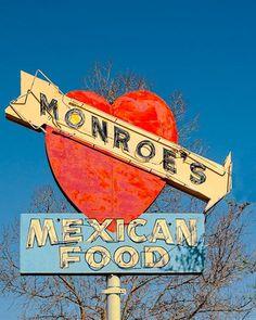 A fine art photo of the Monroe's Mexican Food in Albuquerque, New Mexico.