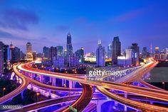 Stock-Foto : Shanghai overpass at Night