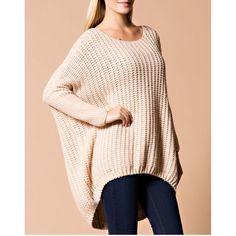 """Traveler"" Oversized Long Sleeve Sweater Top Long sleeve oversized sweater top. Brand new. True to size. NO TRADES. Bare Anthology Sweaters"