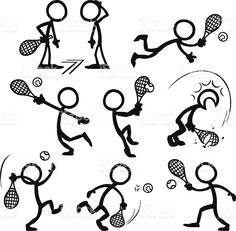 Stick Figure People Tennis royalty-free stick figure people tennis stock vector art & more images of activity Doodle Drawings, Easy Drawings, Doodle Art, Tennis Crafts, Stick Figure Drawing, Visual Note Taking, Sketch Notes, Stick Figures, Dog Tattoos