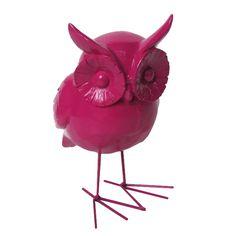 Escultura Coruja Pink