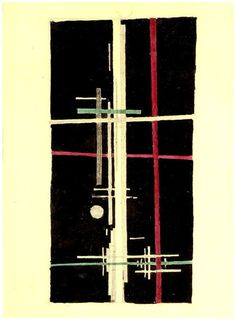 russianavantgarde:  Ilya Chashnik-Suprematism Composition, 1923
