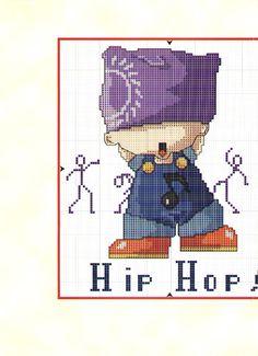 Schema punto croce Bimbo Hip Hop 2