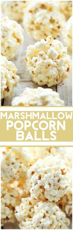 Marshmallow Popcorn Balls... these are such a simple treat that is perfect for gifts and tastes DELICIOUS!