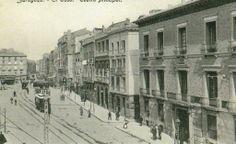 Zaragoza - Coso, vista del antiguo Teatro Principal