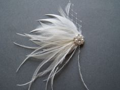 alligator clip hair pieces with feathers - Google Search