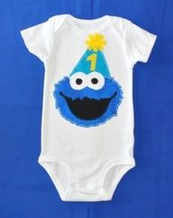 first birthday outfits diy cookie monster - Google Search