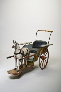 Courtesy of The Royal Armoury (http://emuseumplus.lsh.s...). Toy horse and carriage, used by crown prince Gustav Adolf in the 1880's.