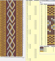 34 tarjetas, 4 colores, alterna 4F y 8 B  // sed_70  ༺❁
