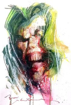 Bill Sienkiewicz Art | the Joker by Bill Sienkiewicz