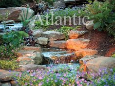 Make a splash with a pond-free waterfall in your landscape this summer! Atantic Water Gardens offers professional-grade products for your next project. Visit Atlantic Water Gardens' photo galleries for inspiration.