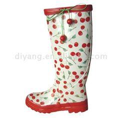 Cherry Rain Boots