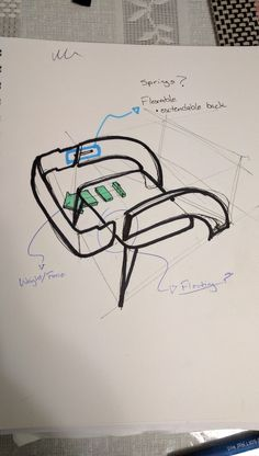 I was reviewing some of the old concepts for the chair and realized that my backrest seems to have a trend of looking very linear and straight. Maybe it was a subconscious thing but I did strat liking it. There I came up with a design to make sure that when no force or weight is applied onto the backrest, it seems straight and linear but once an individual is seated, the backrest adapts and adjusts to the individual's back.