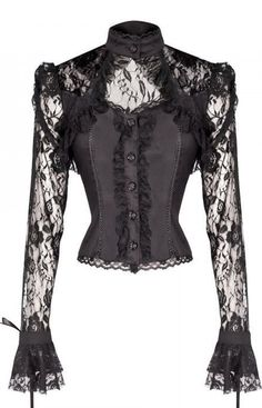 Black Lace Top with Corset Style Lacing <3