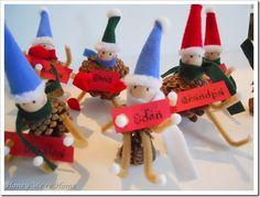 Christmas Pinecone Elves