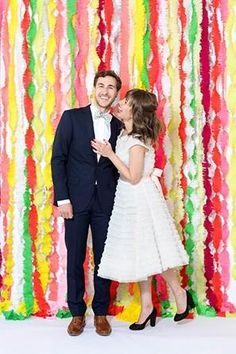 colorful backdrop for wedding photos  @myweddingdotcom