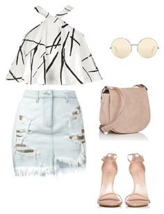 """""""Untitled #13"""" by cleovaladao on Polyvore featuring River Island, Versus, Stuart Weitzman, Deux Lux and Victoria Beckham"""