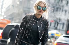 Spike jacket.  Spikes at: http://www.mjtrends.com/categories-Spikes,Notions