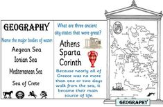 Greece its Geography Ancient Greece minibooks