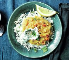 Spiced Dal With Cilantro Yogurt from Real Simple | 20 mins hands on time and 40 mins total time