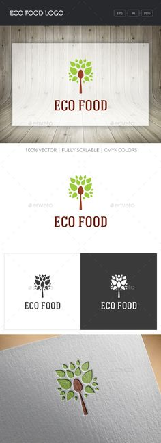 Eco Food - Logo Design Template Vector #logotype Download it here: http://graphicriver.net/item/eco-food-logo/11010196?s_rank=1558?ref=nexion