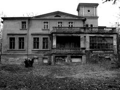 """""""Abandoned Manor"""" -- [an 1870 Dwor located in Gąsawa - a village in Poland located in Wielkopolska in Szamotuly district in the municipality of Szamotuly.]~[Photograph by James Sobek - February 3 2007]'h4d-276.2013'"""