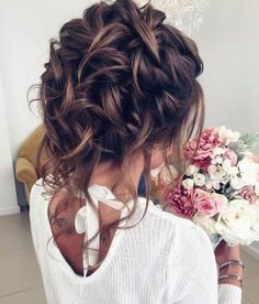 Bridal hair with fresh flowers possibly?