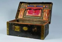Napoleonic French officers leather chest