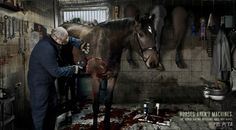 Horses Aren't Machines by Dejan Jovanovic, via Behance    I love the message that this set of images portrays.  Horses are living creatures, and they can't be replaced or repaired like cars.
