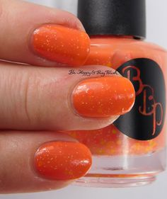 Bad Bitch Polish Belly O'Jelly 3-finger pose   Be Happy And Buy Polish http://behappyandbuypolish.com/2016/03/03/bad-bitch-polish-springish-partial-collection-swatches-review/