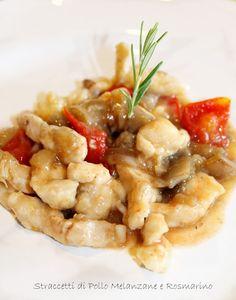 Cuor di Ciambella: Straccetti pollo Melanzane e Rosmarino