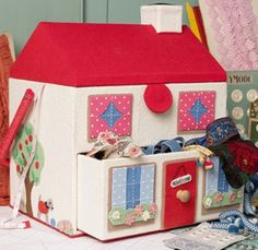 OUT ON THE TOWN > For Autumn/Winter 2010 we went to town, creating the first split level sewing box in our range and modelled on a little town house. #craft #CathKidston