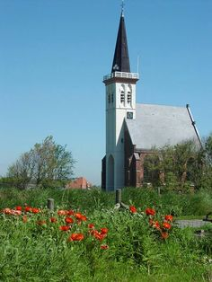 kerk in Den Hoorn, Netherlands