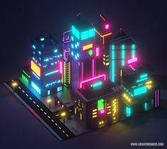 Cyberpunk City Block