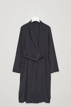 COS image 7 of Silk blazer dress in Steel Blue