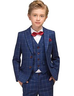 Boys check suit by Sam Boutique Kids Wedding Suits, Wedding With Kids, Suit Fashion, Kids Fashion, Boys Designer Clothes, Look Formal, Kids Suits, Baby Vest, Baby Shop