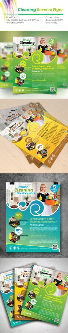 Cleaning Services Flyer Template Cleaning service, Flyer - house cleaning flyer template