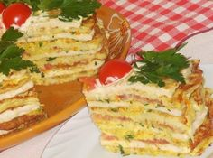 Лучшие кулинарные рецепты: Кабачково-сырный тортик с мясом
