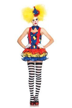 Harlequin Clown Adult Costume , Clown Costumes