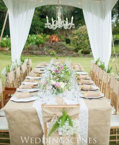 テーブルアレンジ 牧場その1 ハワイウェディングプランナーNAOKOの欧米スタイル結婚式ブログ