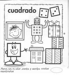 Fichas figuras geometricas | FICHAS PARA PINTAR | DIBUJOS PARA PINTAR