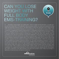can you lose weight with full body ems training?