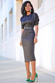 Quilted Dolman Sleeve Midi Dress