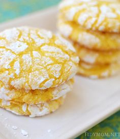 Lemon Burst Cookies. good but not the best. i wanted more zest.