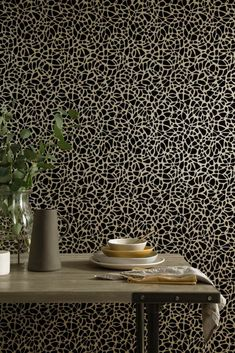 Metallic gold tones warm up modern wallpaper and add a touch of luxury to easily elevate any space. Gold Wallpaper, Modern Wallpaper, Golden Life, Living Room Red, What's Your Style, Designers Guild, Gold Pattern, Chinoiserie, Animal Print Rug